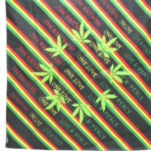 Bandana One Love Cannabis Leaf