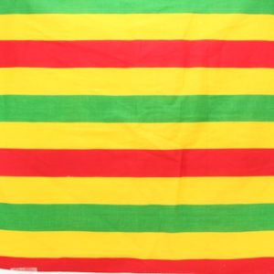Bandana Green Yellow Red Stripes