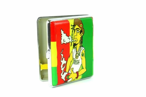 Metallic Cigarette Box Rastaman