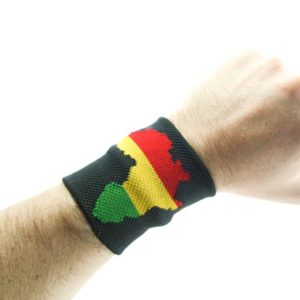 Wristband Africa Rasta Colors Green Yellow Red