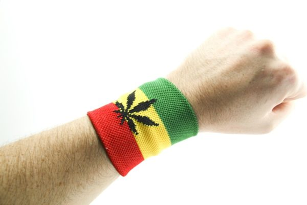 Wristband Cannabis Green Yellow Red