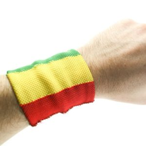Rasta Sweat Wristband Green Yellow Red