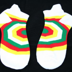 Low-Cut Socks White Psychedelic all Sizes
