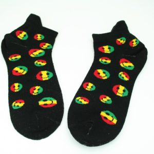 Low-Cut Socks Black Smiley All Sizes