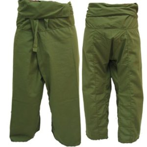 Trousers Thai Fisherman Pants Army Green c002