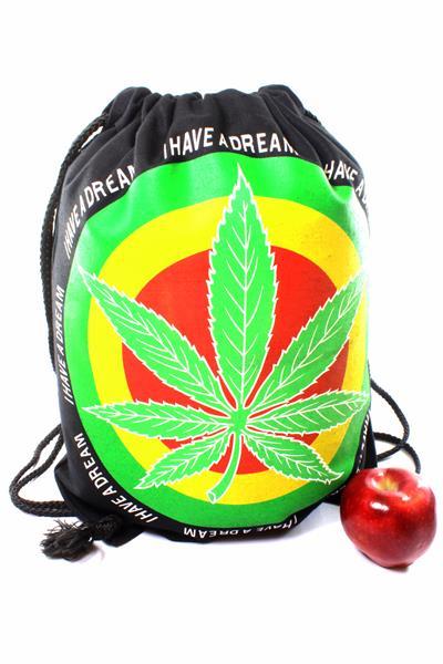 Backpack Marijuana Drawstring Strong Light Foldable Fabric