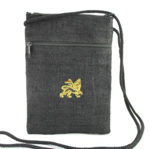 Bag Passport Black Hemp Lion Of Judah Zip