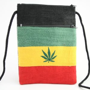 Bag Passport Hemp Cannabis Leaf Zip
