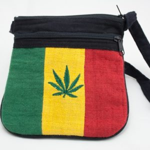 Bag Hemp Cannabis Leaf Shoulder Zip