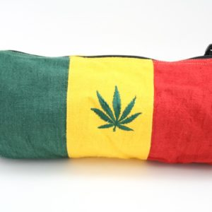 Bag Hemp Tube Middle Size Cannabis Leaf