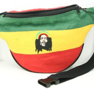 Bag Waist Hemp Rastaman Green Yellow Red