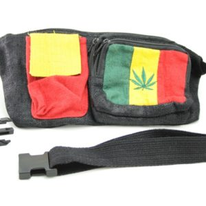 Bag Waist Hemp Pockets Marijuana Rasta Colors