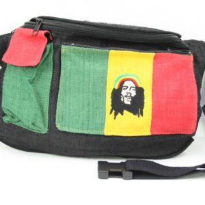 Bag Waist Hemp Pockets Rastaman Green Yellow Red