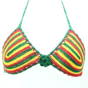 Bikini Knitted Swinsuit Rasta Green Yellow Red