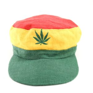 Cap Hemp Green Yellow Red Cannabis Leaf