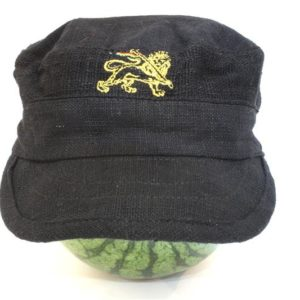 Cap Hemp Black Lion of Judah Gold