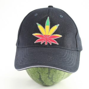 Cap Black Color Flexfit Cannabis