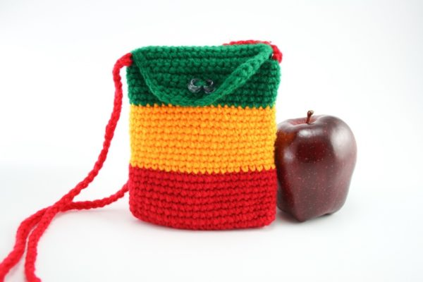 Bag Mobile Rasta Knitted Shoulder Button
