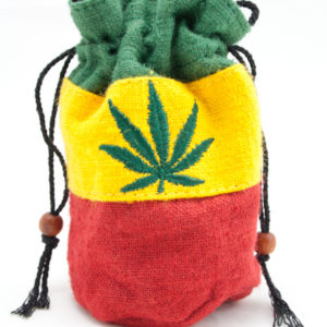Bag Purse Hemp Small Ganja Leaf