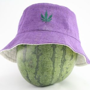 Bucket Hat Violet Cannabis Leaf