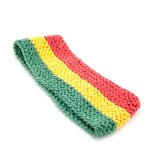 Headband Rasta Colors 3 Inches