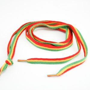 RASTA SHOES LACES GREEN YELLOW RED