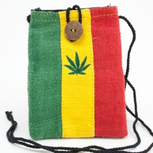 Bag Mobile Hemp Marijuana Leaf Button