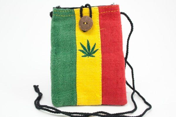 Bag Mobile Hemp Marijuana Leaf Button