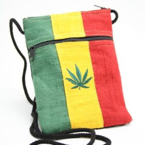 Bag Passport Hemp Weed Leaf Zip