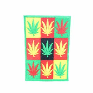 Patch Cannabis Leaves Green Yellow Red Squares