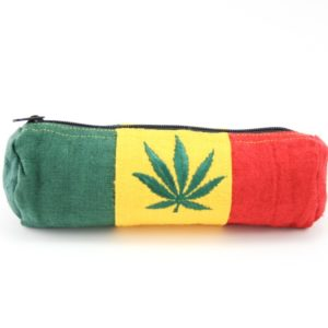 Pencil Case Hemp Ganja Leaf Green Yellow Red