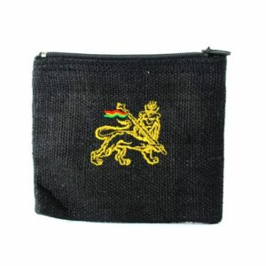 Purse Hemp Black Lion Of Judah Zip