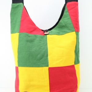 Bag Roots Beach Big Size Shoulder Button Green Yellow Red