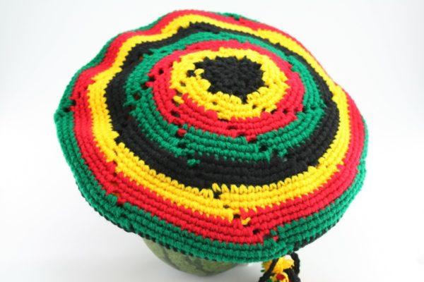 Tam Rasta Visor Circle Pattern Green Yellow Red