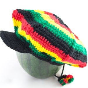 Tam Rasta Visor Web Pattern Green Yellow Red
