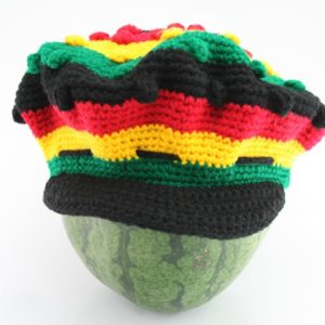 Tam Rasta Visor Balls Pattern Green Yellow Red