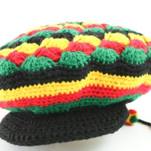 Tam Rasta Visor Mexican Pattern Green Yellow Red