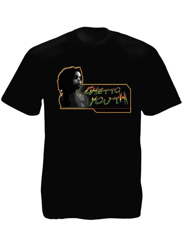 Kid Portrait Guetto Youth Black Tee-Shirt