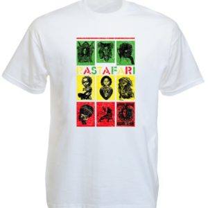 Rastafari Green Yellow Red White Tee-Shirt