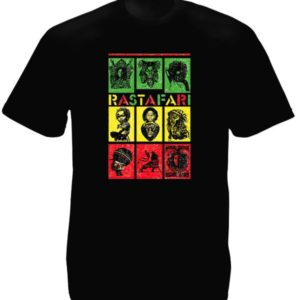 Rastafari Green Yellow Red Black Tee-Shirt