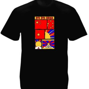 Free Tibet Bye Bye China Black Tee-Shirt
