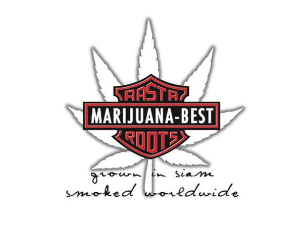 Harley Davidson Marijuana Best Rasta Roots White Tee-Shirt
