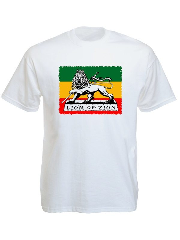 Lion of Zion White Tee-Shirt