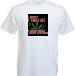 I Love Ganja White Tee-Shirt