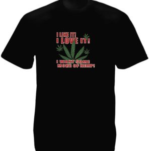 I Love Ganja Black Tee-Shirt
