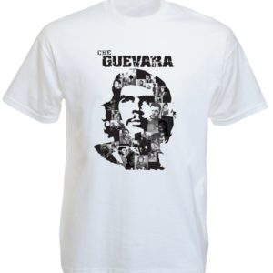 Black Che Guevara Portrait White Tee-Shirt