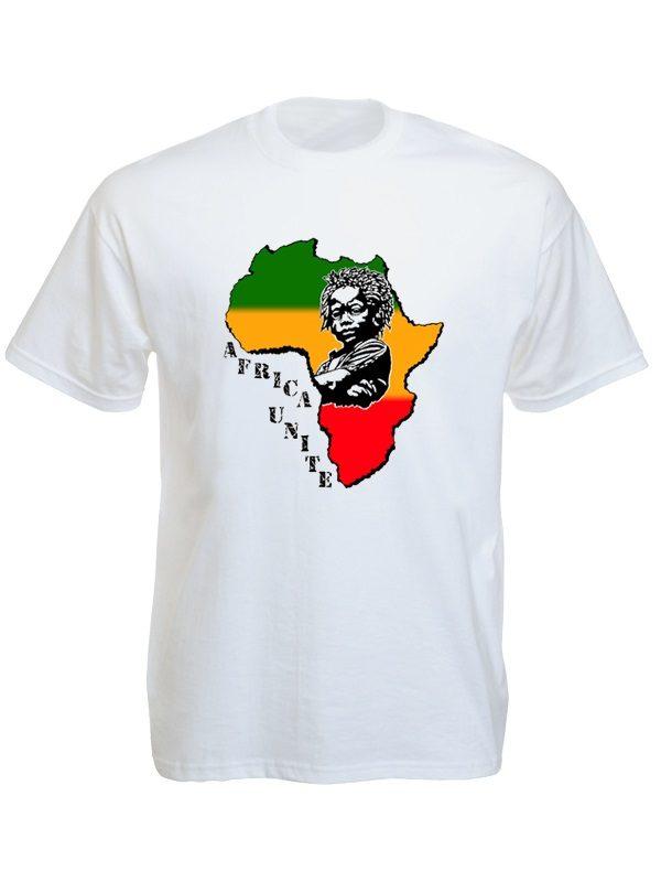 Africa Unite Baby Rasta White Tee-Shirt
