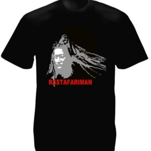 Rastafari Man Black Tee-Shirt