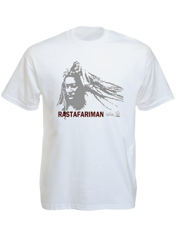 Rastafari Man White Tee-Shirt