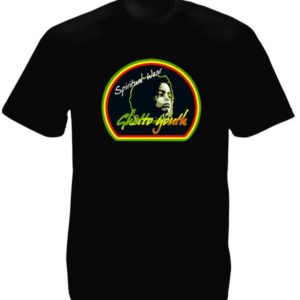 Ghetto Youth Rastafari Spiritual Wear Black Tee-Shirt